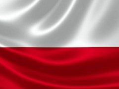 3D rendering of the flag of Poland on satin texture.